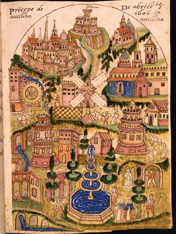 Ms.XII G 59, F.A. Nigrone, Scritti e disegni, sec.XVIex.- XVII in.,  c.22r